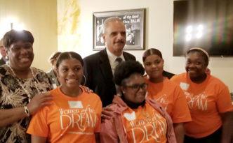 women of the dream girls meet Eric Holder
